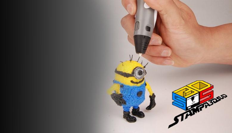 Libera la tua fantasia! Scopri ora la nuova tecnologia 3D che ti permette di dare vita alle tue creazioni con semplicita' ed immediatezza!