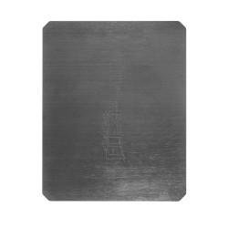 Piano riscaldato - Printed black square 214x214x3