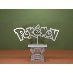 Logo Pokemon - Topper cake Pokémon - IDEA REGALO stampa 3D - lunghezza 10 cm