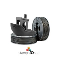 filamento speciale carbonio colore nero opaco 1,75 mm 500 gr base in pet-g made in italy