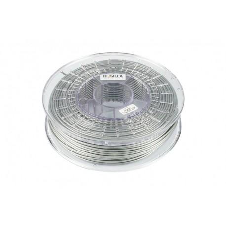 Filamento PLA colore grigio metallico, diametro 2,85mm, peso 5kg