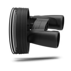 Filamento UV729 ASA colore 9005 black hole , diametro 2,85mm, peso 1kg