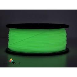 Filamento PLA Glow in the dark ( fosforescente verde ) brilla al buio diam 1,75 mm bobina da 1kg