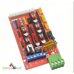 Controller RAMPS 1.4 Reprap Mendel Prusa Stampante 3D Printer Arduino Mega Red